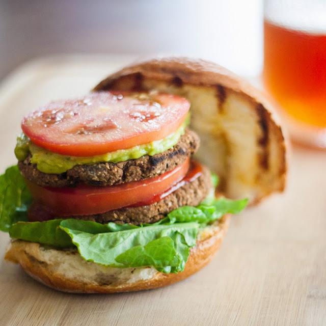 http://pinktrollkitchen.com/2014/11/20/vegan-gluten-free-black-bean-burgers/